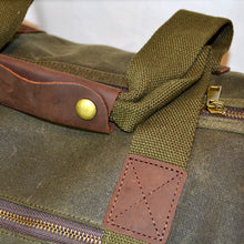 Load image into Gallery viewer, Waxed Cotton Weekend Bag