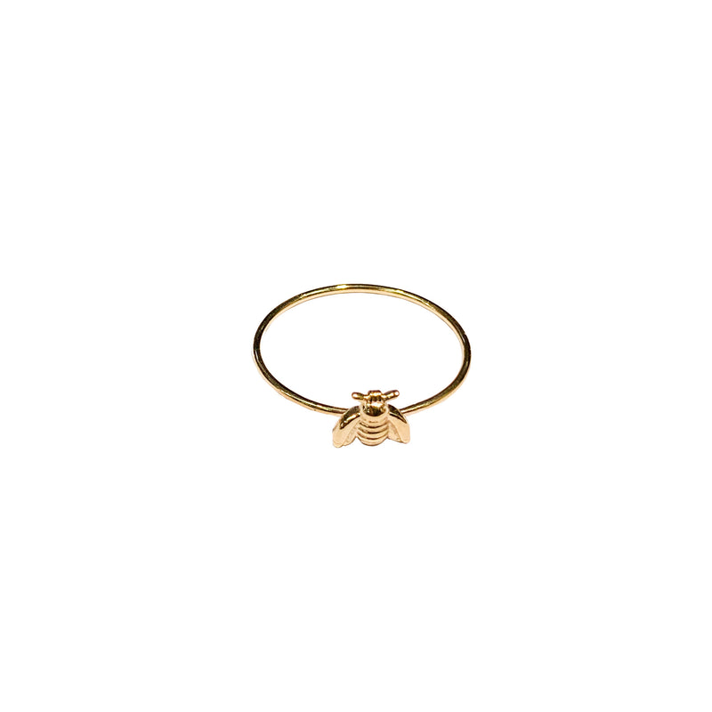 gold ring with bumble bee