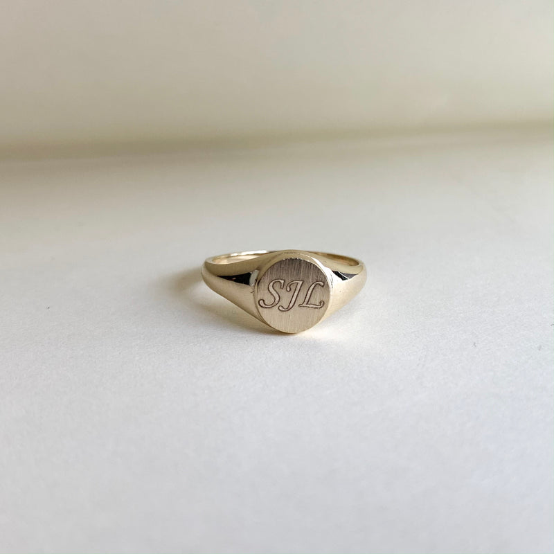 Engravable Signet Ring