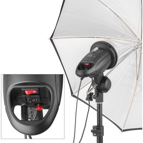 ABRL160 Stand Mount Flash with LED Modeling Light - ATA Photobooths USA