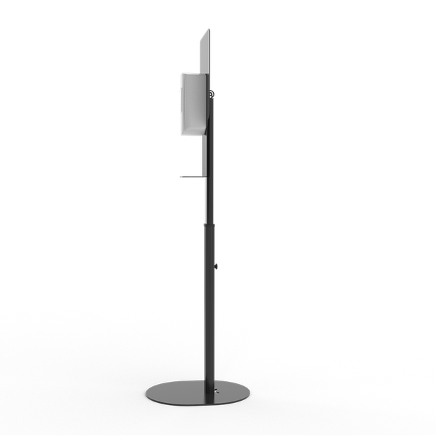 Hand soap/sanitizer Automatic-Dispenser Metal Floor Stand with drip Tray and Height Adjustable - ATAPHOTOBOOTHS, USA