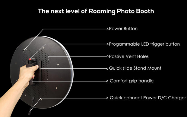 "Ring Roamer 10.5"" V2 (Button Controlled) - ATAPHOTOBOOTHS, USA"
