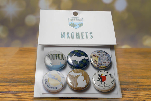 Upper Peninsula / Yooper Themed Magnet Set