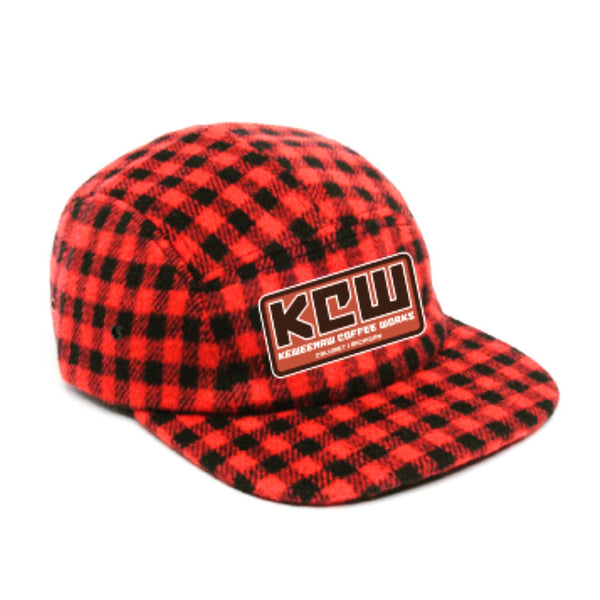 5 Panel Checkered Wool Hat