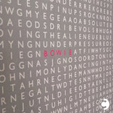 'Bowie' limited edition word search print by Clive Sefton - detail