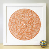 Personalised Maze Print