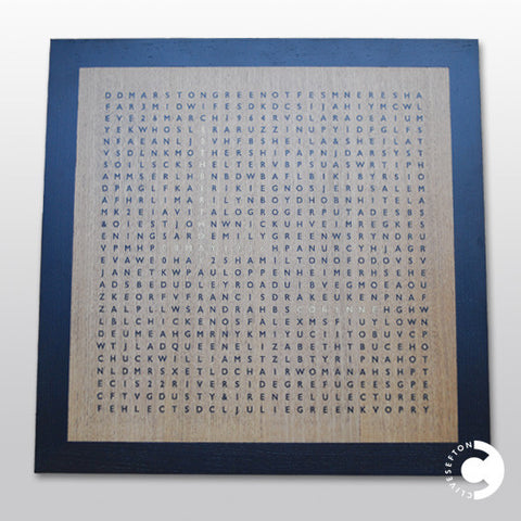 'Corinne' marquetry word search