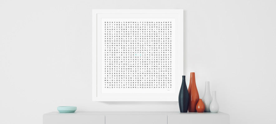 Personalised word search by Clive Sefton
