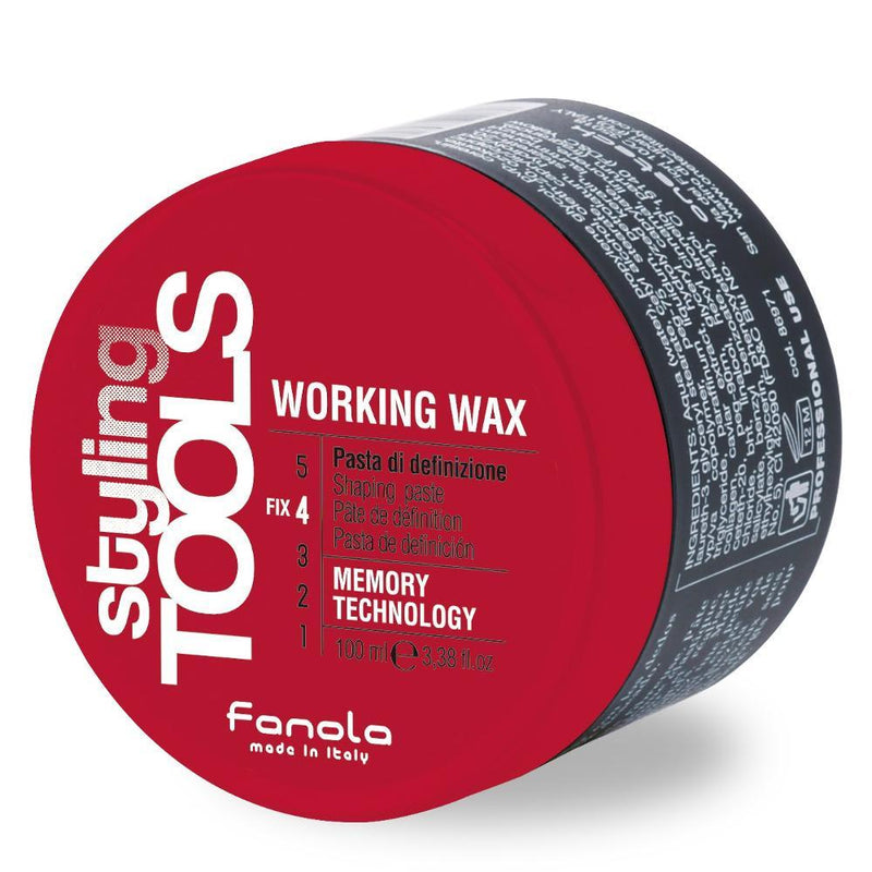 Fanola Working Wax - Shaping Paste, 100 ml Hair Gels, Glues, & Pastes Fanola