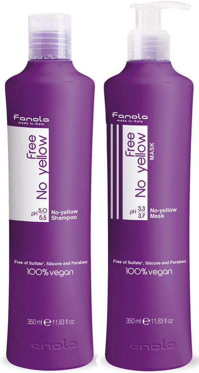 Fanola Free No Yellow Vegan Shampoo and Mask Hair Shampoos Fanola 350 ml