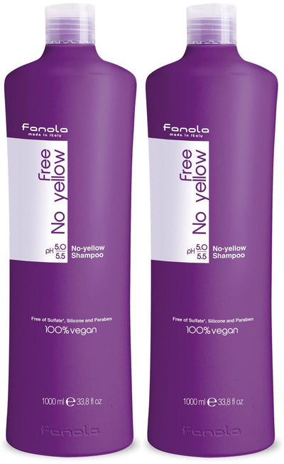 Fanola No Yellow Vegan Shampoo or Mask, 1000 ml 2 Pack