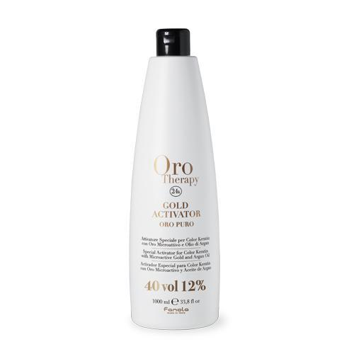Fanola Oro Therapy 24k Gold Activator Hair Color Developers Fanola 40 Vol 1000 mL
