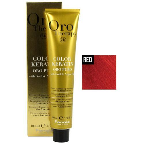 Fanola Oro Puro Intensifier Coloring Cream Permanent Hair Coloring Fanola Red