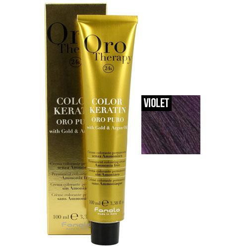 Fanola Oro Puro Intensifier Coloring Cream Permanent Hair Coloring Fanola Violet