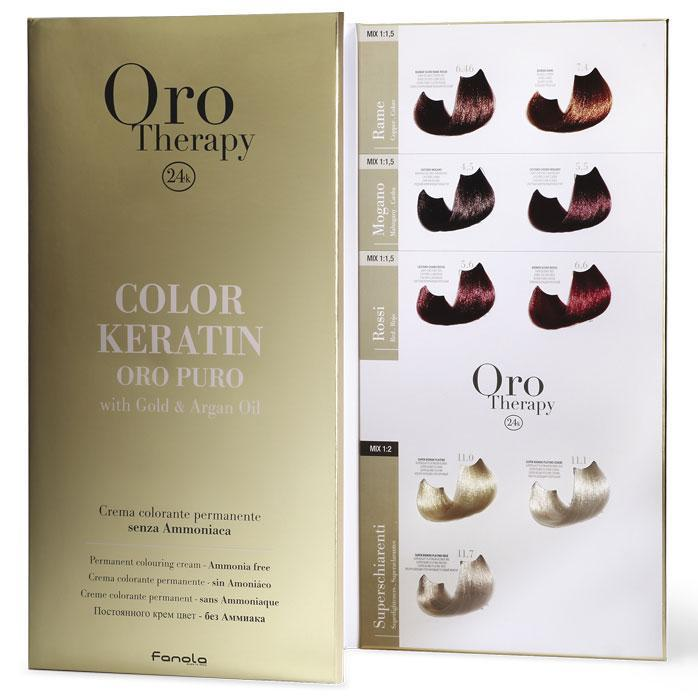 Fanola Oro Puro Colour Swatch Book 65 Color Hair Color Accessories Fanola Default Title