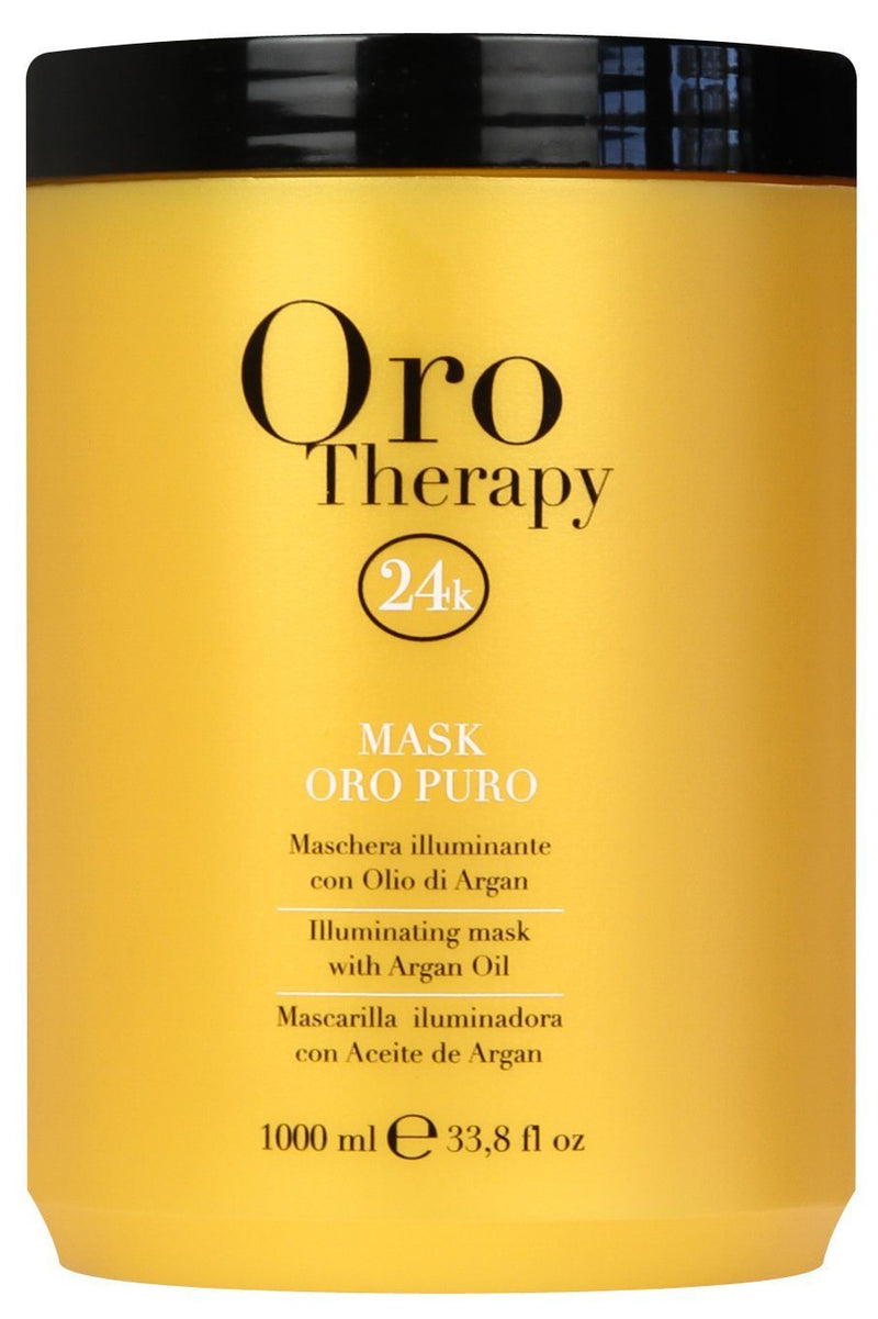 Fanola Oro Puro Illuminating Keratin Argan Mask Hair Treatments Fanola 1000 mL