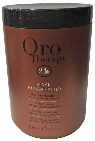 Fanola Rubino Puro Keratin Mask for Treated Hair Hair Treatments Fanola 1000 mL