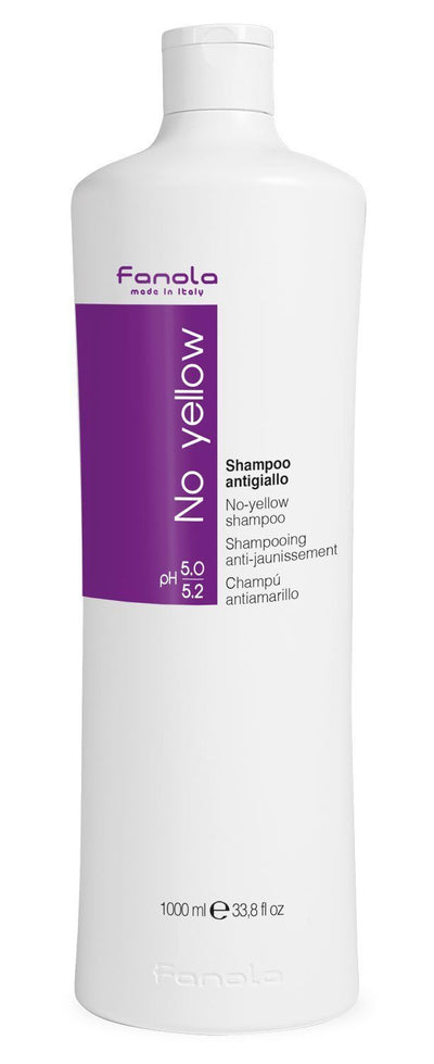 Fanola No Yellow Shampoo or Mask Hair Shampoos Fanola Shampoo, 1000 ml