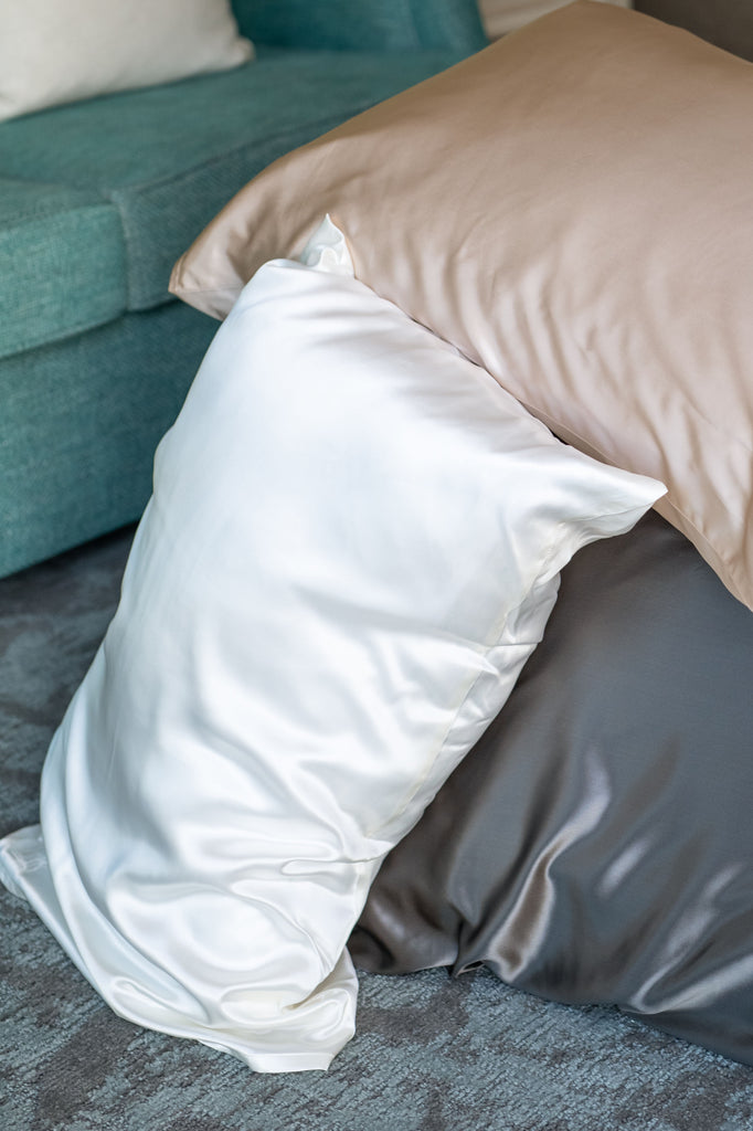 Men's White Pillow Case - Silken Pure