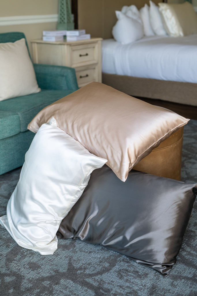 Champagne Pillow Case - Silken Pure