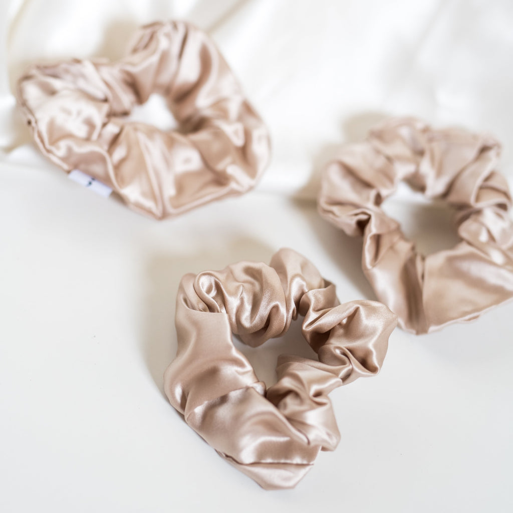 Large Scrunchies Set of 3 - Silken Pure