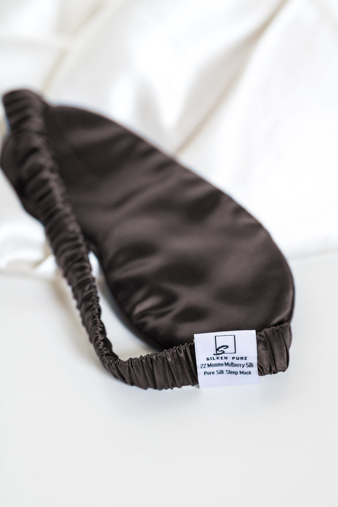 Sleep Mask - Dark Gray - Silken Pure