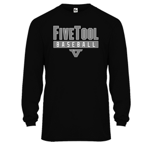 Black 'Lightweight Series' Long Sleeve Tee - SLV/WHT