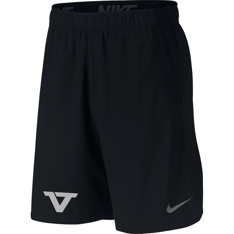 Black 'VT' Flex Athletic Shorts - SLV