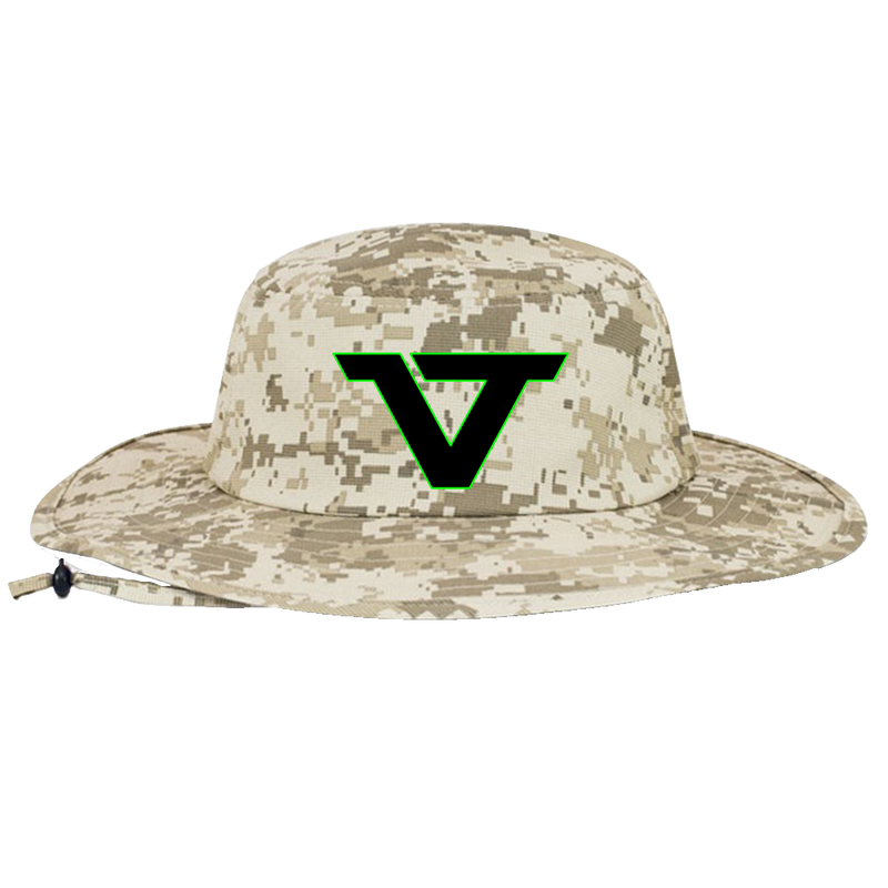 Digital Camo 'VT' Bucket Hat - BLK/GRN