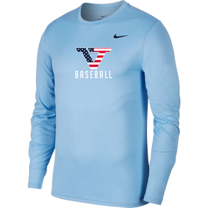 Carolina Blue 'Pro Style' Long Sleeve Legend Tee - USA