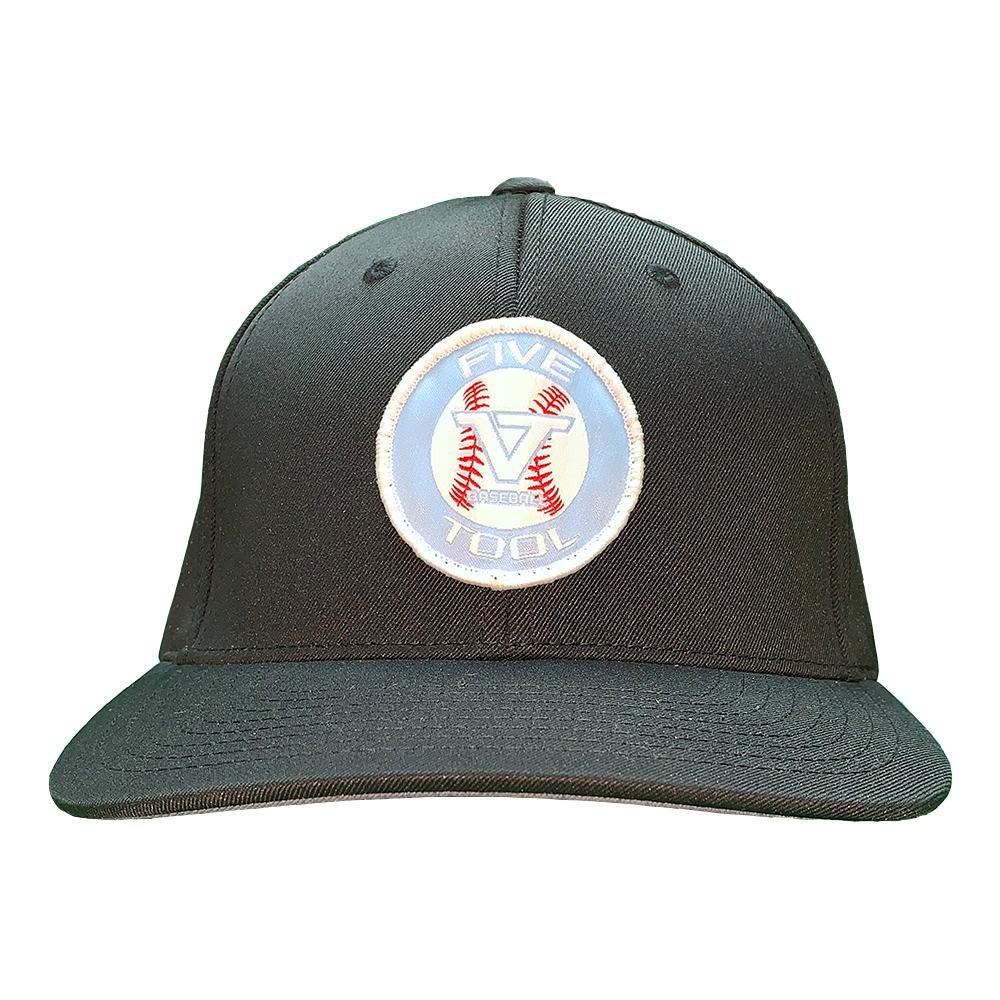 Black 'Icon' Fitted Cap - BLU