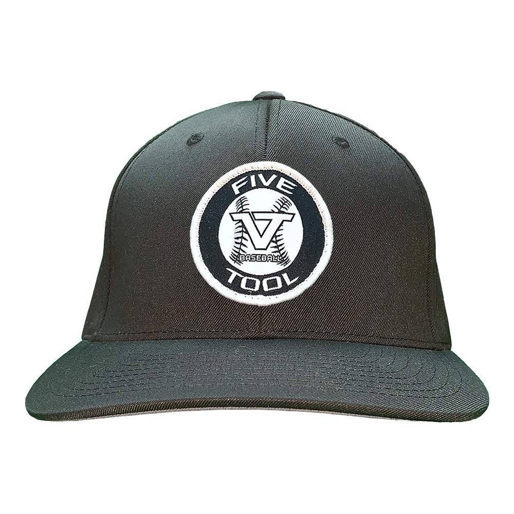 Black 'Icon' Fitted Cap - WHT