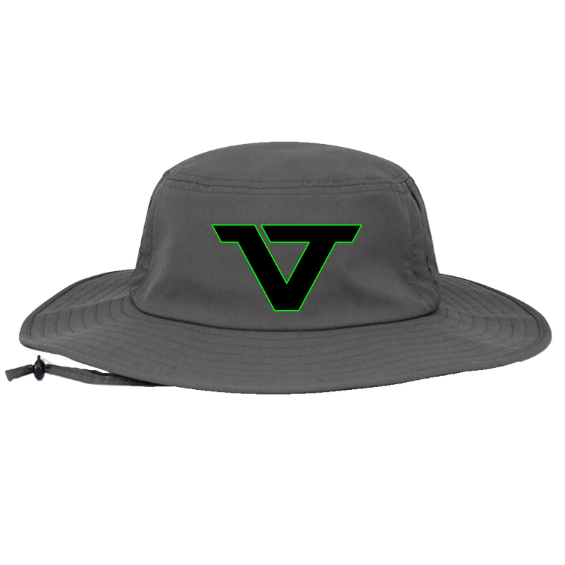 Grey 'VT' Bucket Hat - BLK/GRN