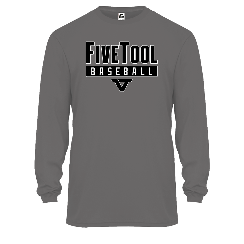 Grey 'Lightweight Series' Long Sleeve Tee - BLK/WHT