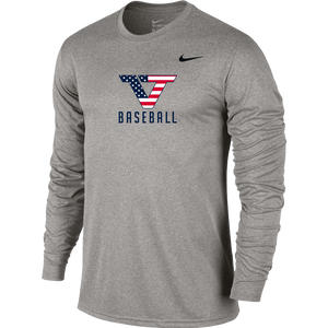 Grey 'Pro Style' Long Sleeve Legend Tee - USA