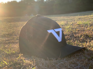 Black 'VT' Fitted Trucker Cap - WHT