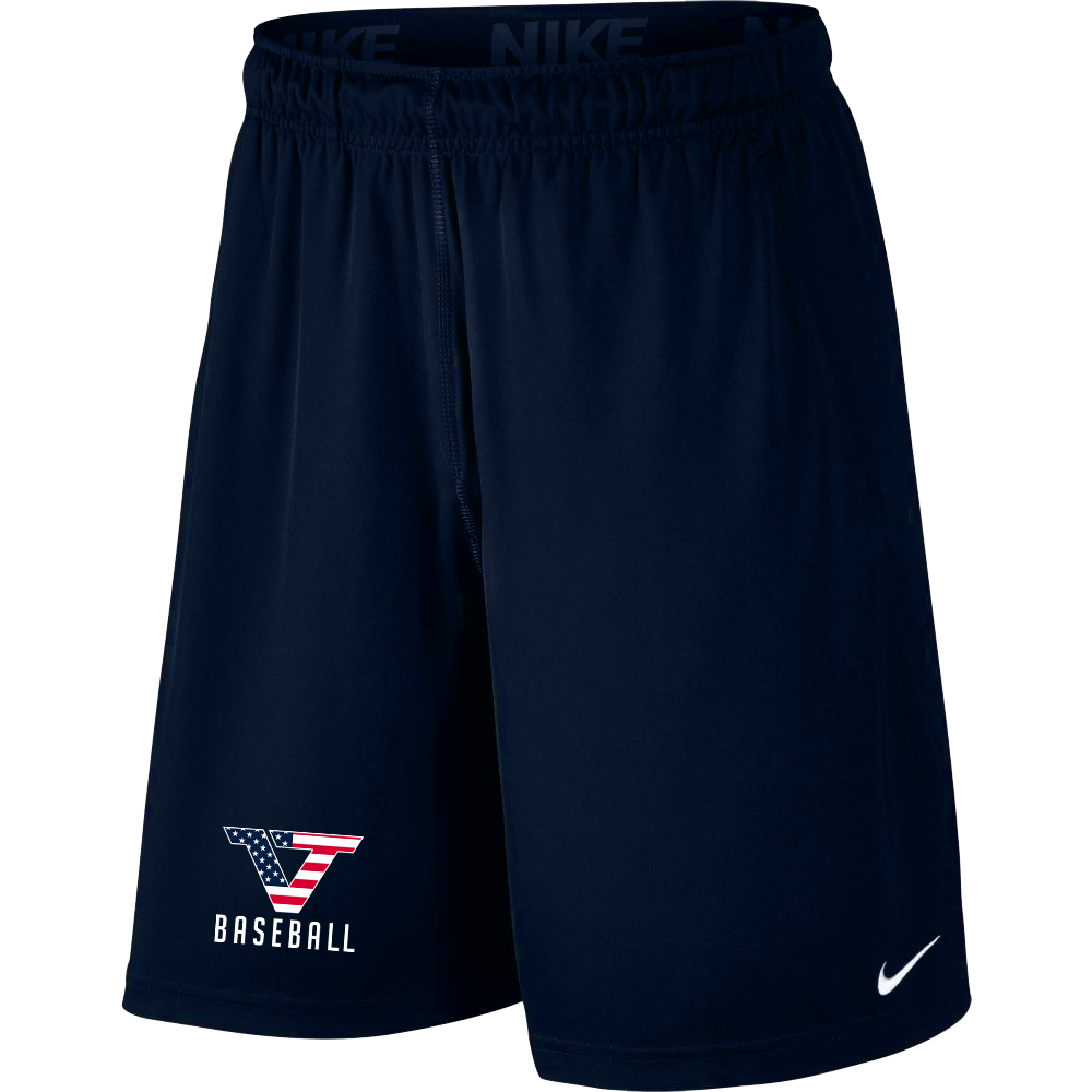 Navy 'Dry-Fit' Athletic Shorts - USA