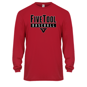 Red 'Lightweight Series' Long Sleeve Tee - BLK/WHT