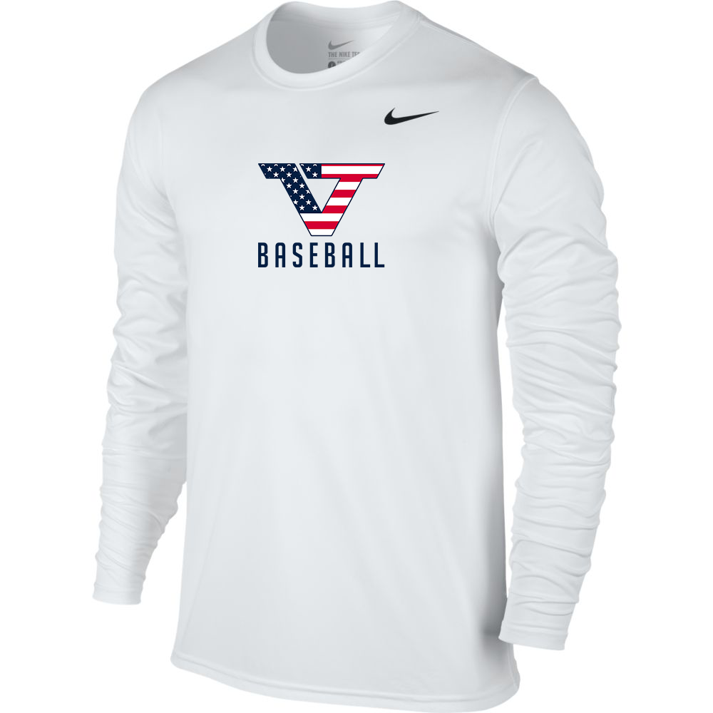 White 'Pro Style' Long Sleeve Legend Tee - USA