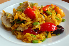 Load image into Gallery viewer, **NEW** Authentic Paella Bowls - Seafood/Chicken & Chorizo/Veg  (Tapas) V