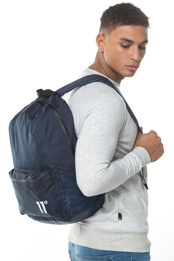11 Degrees Core Backpack In Navy Blue