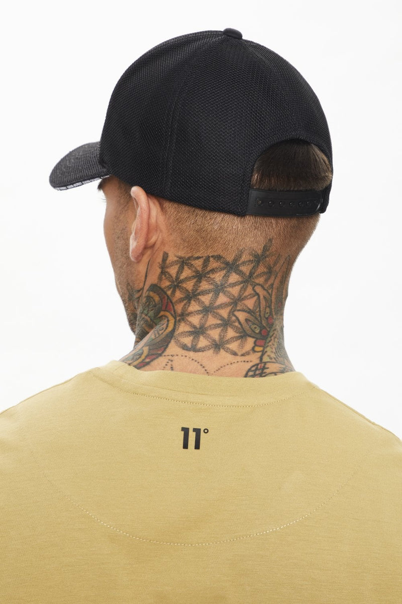 11 Degrees Mesh Overlay Cap - Black 11D421-001