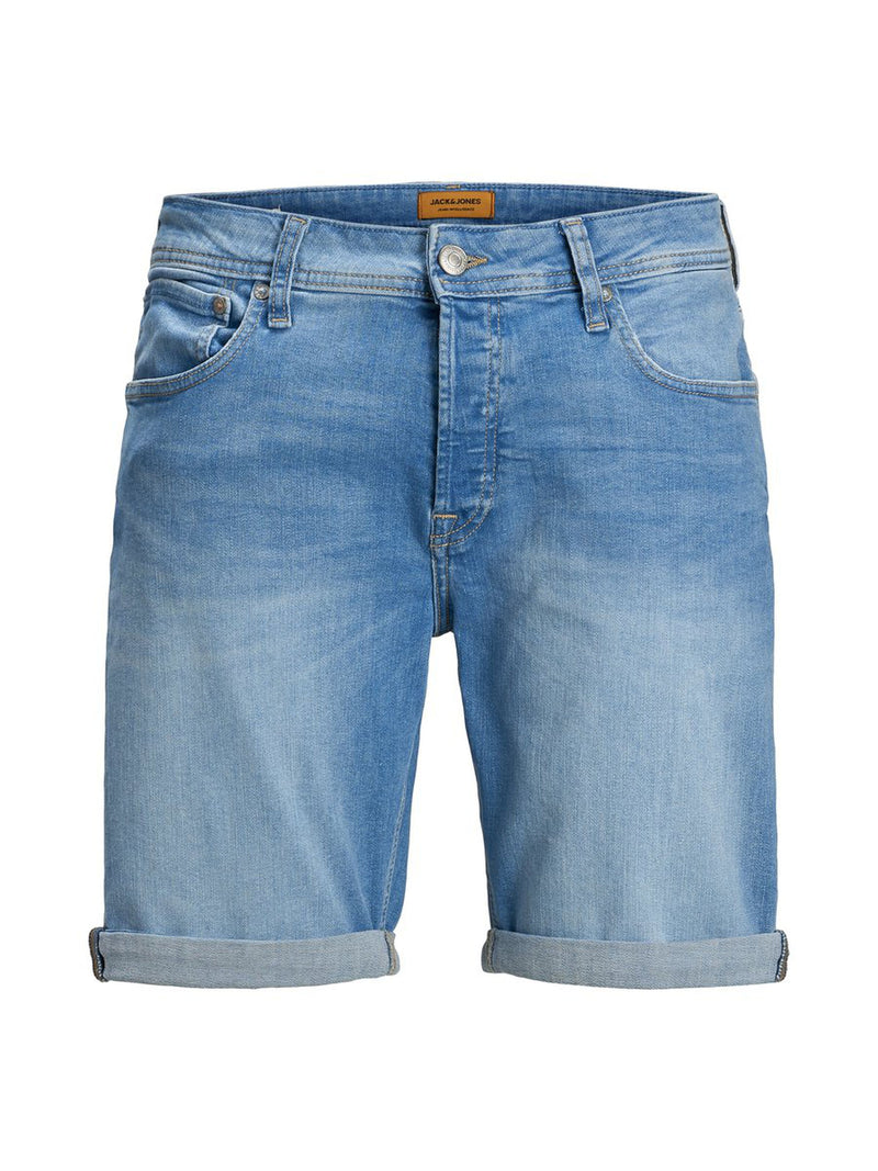 Jack & Jones Rick Regular fit mens denim shorts Classic five-pocket style Blue