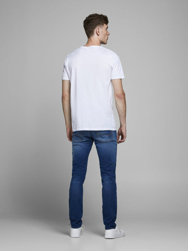 Jack & Jones Slim fit jeans with a tapered leg and low rise Glenn 006 Blue Denim