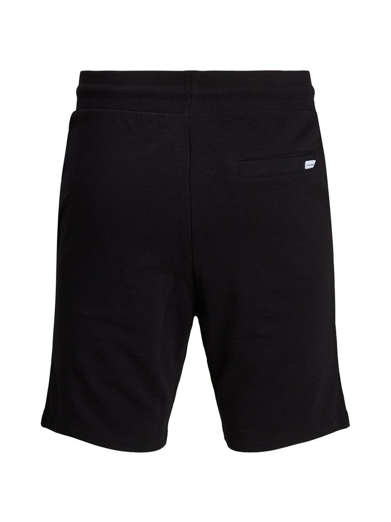 Jack & Jones Shark Mens Cotton Jersey Sweat shorts in Black