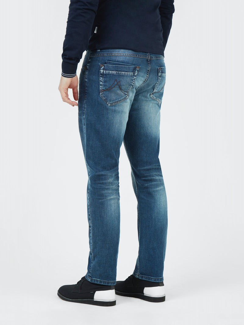 Mish Mash 1984 Armstrong 7 pocket Denim Jeans in a Mid Wash