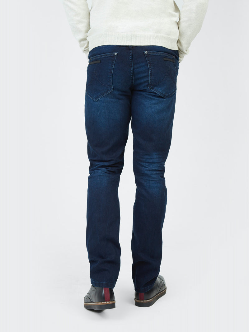 Mish Mash 5 Pocket 1984 Genoa Denim Jeans In Dark Denim