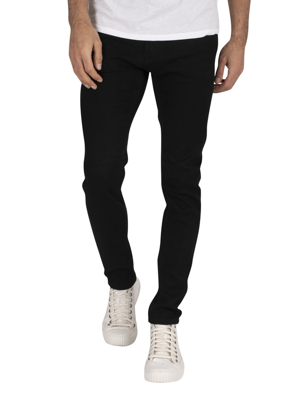 Jack & Jones Liam Original 816 Skinny Jeans - Black Denim