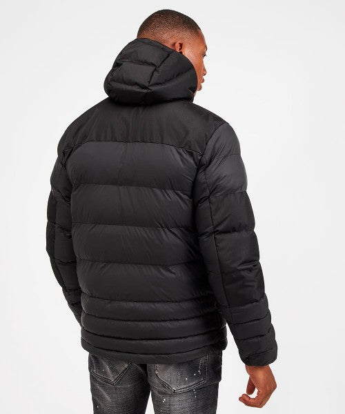 Kings Will Dream Winter Padded Hooded Boden Jacket in Black