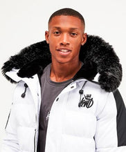 Load image into Gallery viewer, Kings Will Dream Faux Fur Hooded Puffa Jacket Branson in WHITE